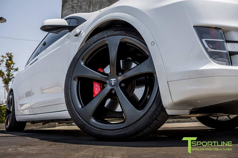 Pearl White Tesla Model X MX5 Tuning 5 Pearl White lackiertes Tesla Model X auf 22 Zoll MX5 Felgen