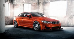 Widebody BMW M4 F82 Coupe Sakhir Orange Tuning 2 310x165 Carbon Fiber & Co BMW M3 F80 Limo auf HRE Felgen