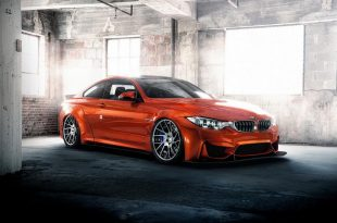 Widebody BMW M4 F82 Coupe Sakhir Orange Tuning 2 310x205 Wow   Widebody BMW M4 F82 Coupe in Sakhir Orange