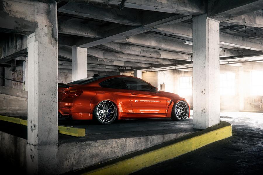 Widebody BMW M4 F82 Coupe Sakhir Orange Tuning 3 Wow   Widebody BMW M4 F82 Coupe in Sakhir Orange