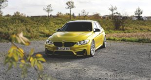 BMW F80 M3 Austin Yellow Gelb HRE RC100 Tuning 4 310x165 BMW M3 F80 in Black Sapphire Metallic auf HRE P104 Alus