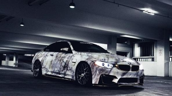Crazy Style – BMW M4 F82 Coupe im Marmor-Wrap Look
