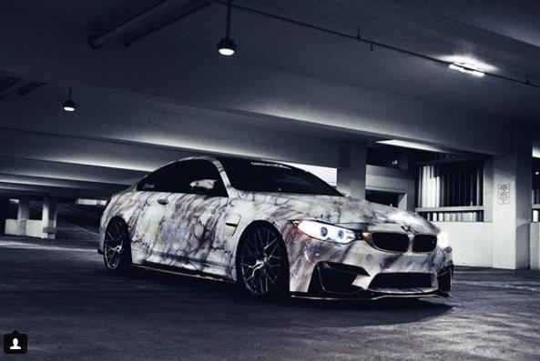 Crazy Style Bmw M4 F82 Coupe In A Marble Wrap Look