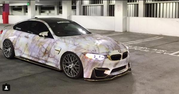 Bmw M4 F82 Coupe Marble Wrap Look Tuning 7 Tuningblog