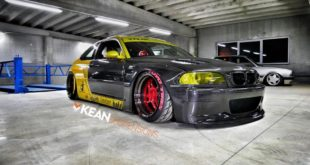 Carbon Rocket Bunny BMW E46 M3 Tuning 2017 10 310x165 Heftig   Widebody BMW E46 M3 auf CCW Wheels in Phoenixgelb