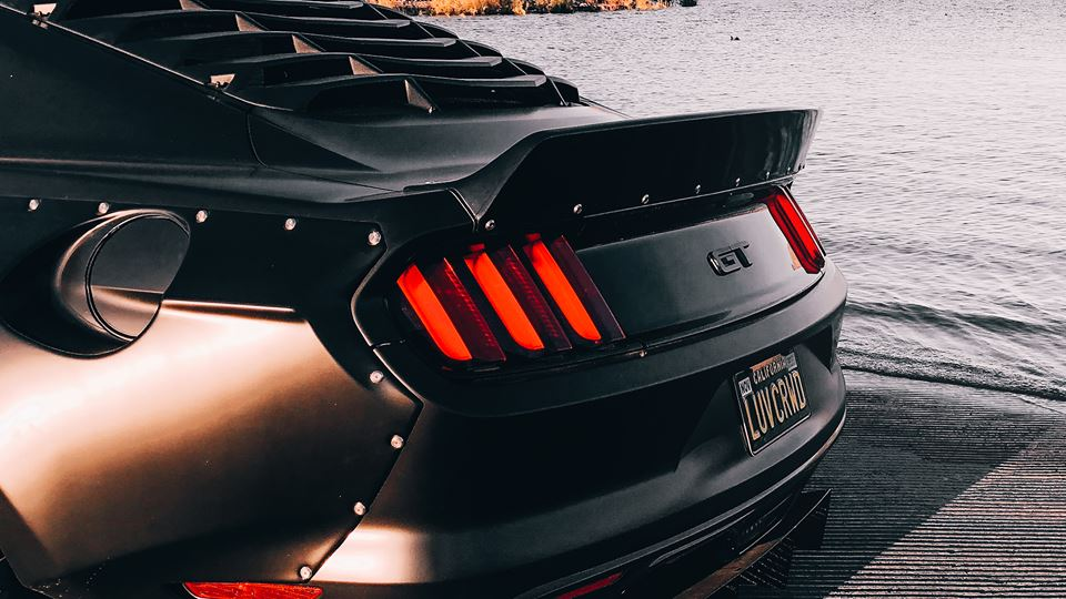 Clinched Widebody Ford Mustang GT Tuning 3 Black fury Mustang   Clinched zeigt neues Widebody Monster