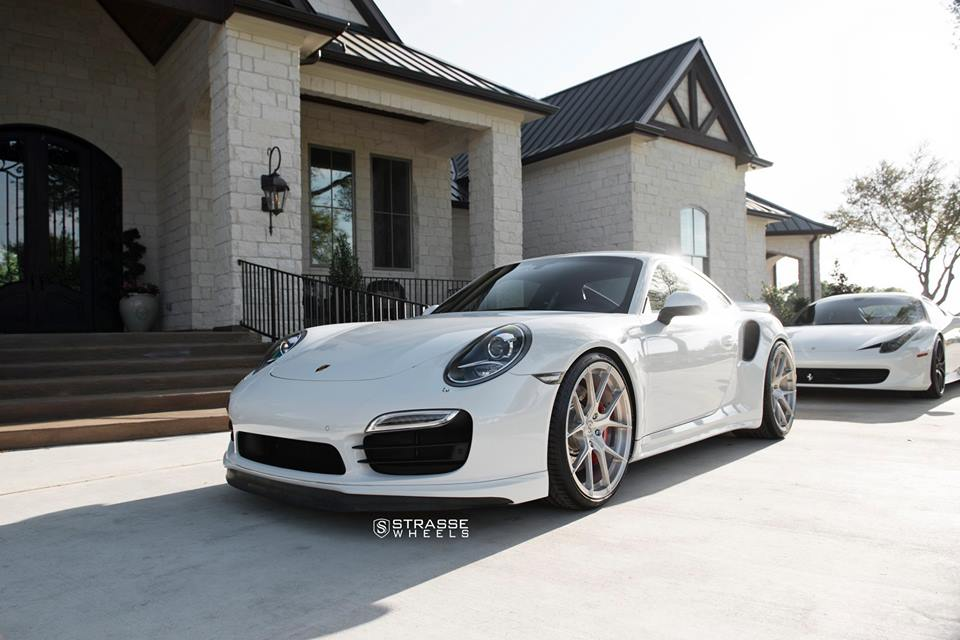 Strasse Wheels SM5R Felgen Porsche 911 Turbo 1008 Tuning Strasse Wheels SM5R Felgen am Porsche 911 Turbo (991)