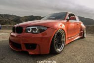 BMW E82 1er 135i Clinched Widebody Kit SevenK Wheels Tuning 10 190x127 BMW E82 1er (135i) mit Clinched Widebody Kit & SevenK Wheels