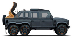 Kahn Design Flying Huntsman 6x6 Soft Top 310x165 Land Rover Defender Final Edition in Lava Orange by Kahn