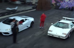 Lamborghini Huracan vs. Countach 310x205 Video: Mini Dragrace   1100 PS Lamborghini Huracan vs. Countach