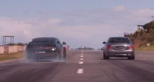 2018 Mercedes AMG E63s vs. 693 PS Ford Mustang Savage 310x165 Video: Dragrace   2018 Mercedes AMG E63s vs. 693 PS Ford Mustang Savage