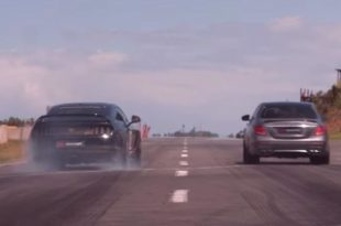 2018 Mercedes AMG E63s vs. 693 PS Ford Mustang Savage 310x205 Video: Dragrace   2018 Mercedes AMG E63s vs. 693 PS Ford Mustang Savage