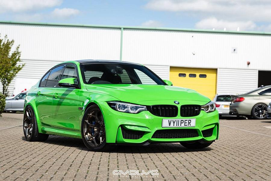 BMW M3 F80 Viper Green 6Sixty Crypto Tuning Wheels 7 Lambo Style   BMW M3 F80 in Verde Mantis by Evolve Automotive