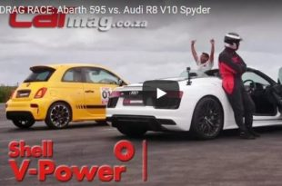 Dragrace Abarth 595 R8 V10 Spyder 310x205 Video: Dragrace   Abarth 595 gegen Audi R8 V10 Spyder