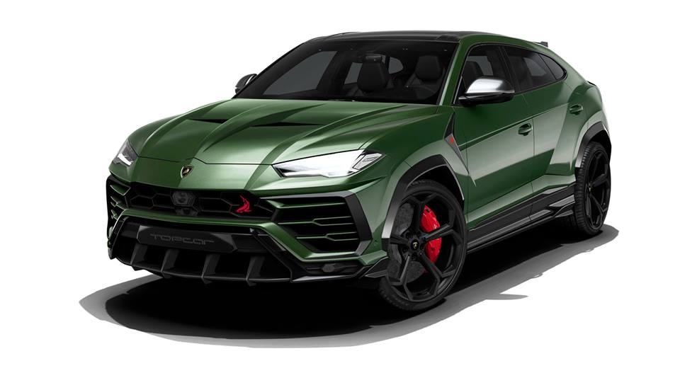 preview lamborghini urus with topcar bodykit