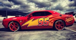 Lightning McQueen Folierung Dodge Challenger Tuning 4 310x165 Weathered Electric Apocalypse Look am Skepple BMW I3