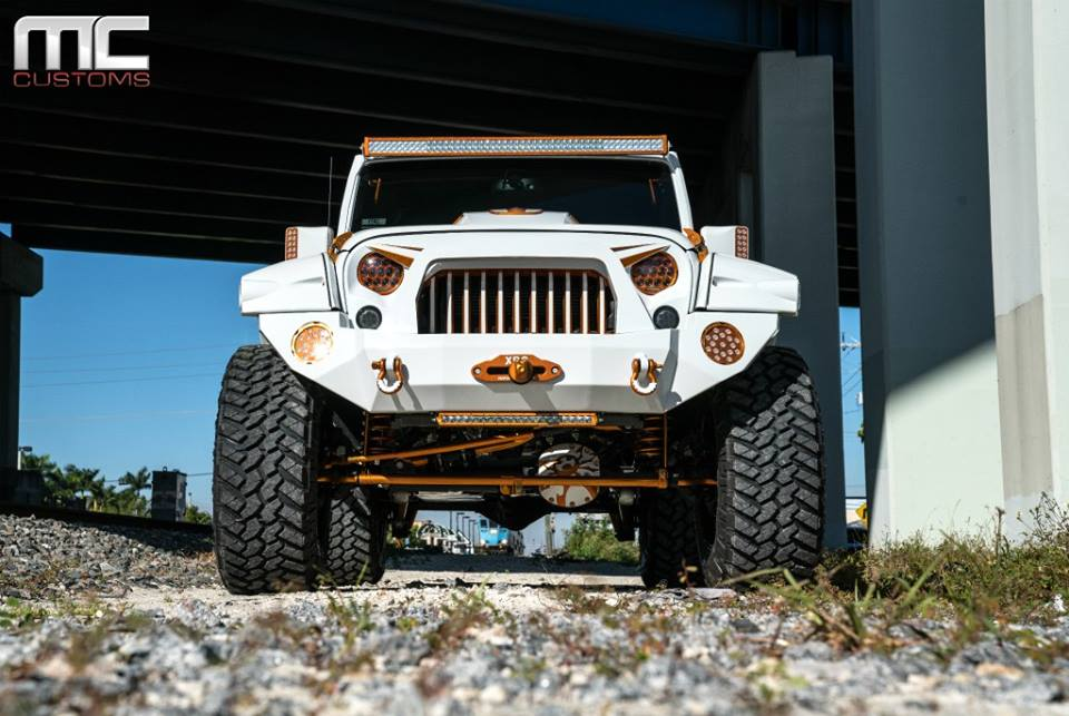 MC Customs Widebody Jeep Wrangler Tuning Offroad 5 Monster   MC Customs Widebody Jeep Wrangler in weiß