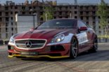 Mercedes Benz SL R230 SR66.1 Design Widebody Kit Tuning 27 155x103 Mercedes Benz SL R230 mit SR66.1 Design Widebody Kit