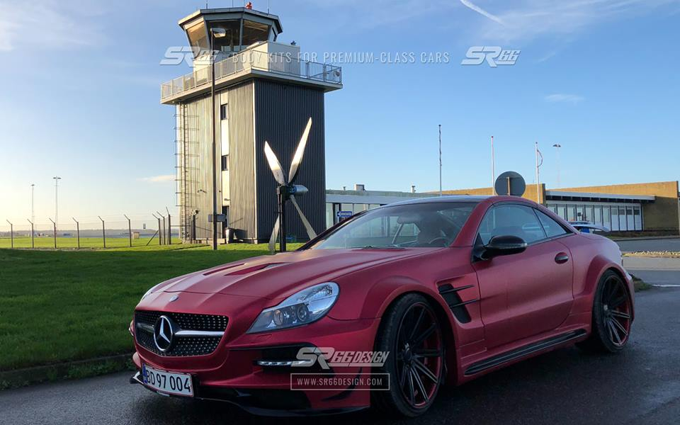 Mercedes Benz SL R230 SR66.1 Design Widebody Kit Tuning 5 Mercedes Benz SL R230 mit SR66.1 Design Widebody Kit