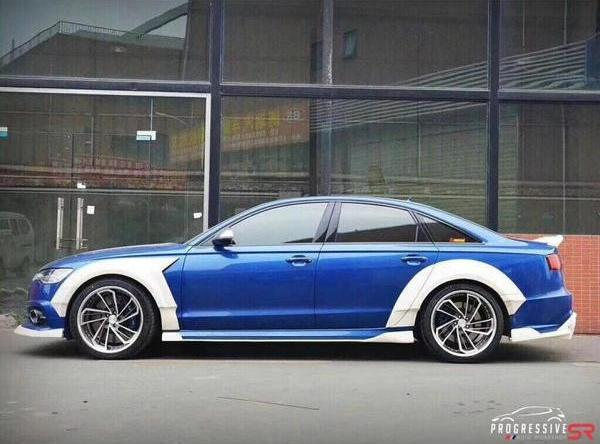 Progressive SR Widebody Kit Audi A6 C7 2 Mächtig fett   Progressive SR Widebody Kit am Audi A6 C7