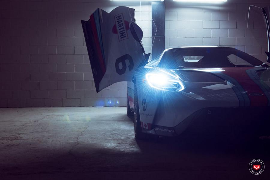 2017 Ford GT Martini Livree Vossen S17 01 Tuning 16 Highlight   2017 Ford GT von Driving Emotions Motorcar