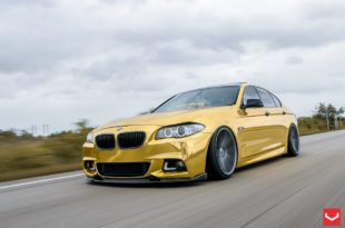 BMW M5 F10 Gold Vossen VFS 1 Felgen Tuning 19 310x205 Golden Eye... BMW M5 F10 in Gold auf Vossen VFS 1 Felgen