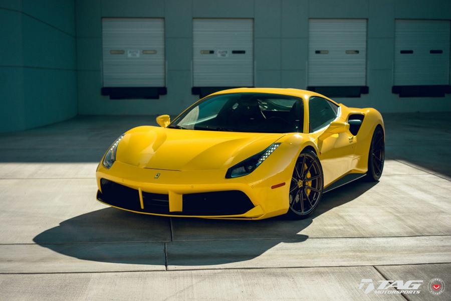 Gps Car Tracker >> The yellow of the egg? Ferrari 488 GTB on Vossen M-X2 Alus