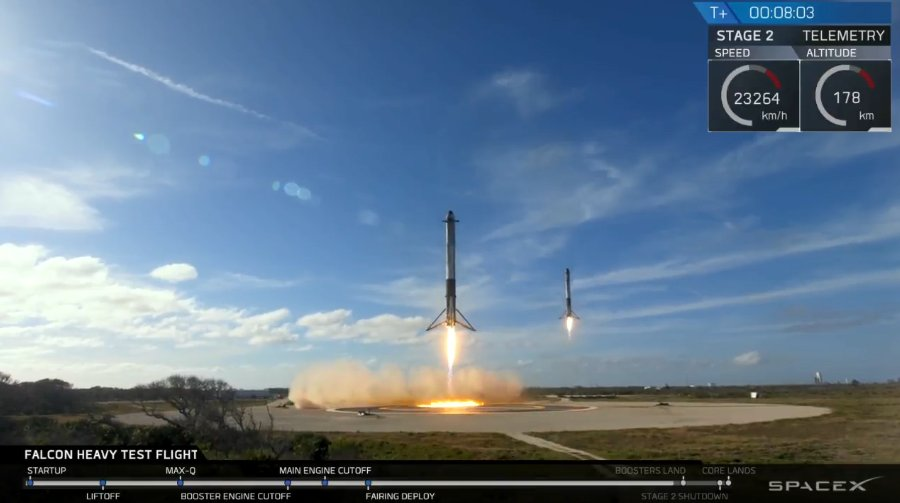 SpaceX Falcon Heavy Mattschwarz & Vossen VPS 314T Alus am Tesla Model X