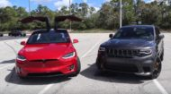 Tesla Model X P100D Jeep Grand Cherokee Trackhawk 2 190x105 Dragrace: Tesla Model X P100D vs. Jeep Grand Cherokee Trackhawk