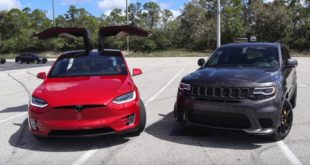 Tesla Model X P100D Jeep Grand Cherokee Trackhawk 2 310x165 Dragrace: Tesla Model X P100D vs. Jeep Grand Cherokee Trackhawk