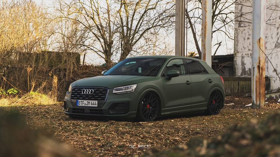 Top Secret Tuning Audi Q2 Airride LV2 Tuning 1 Mega   Top Secret Tuning Audi Q2 mit Airride & LV2 Alus