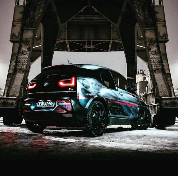 Weathered Electric Apocalypse Look Skepple BMW I3 Folierung 1 Weathered Electric Apocalypse Look am Skepple BMW I3