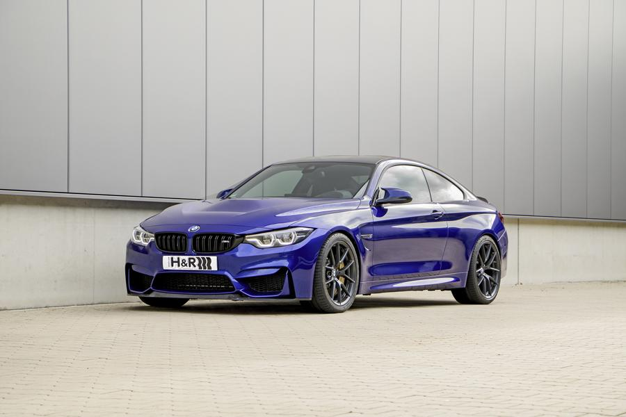 BMW M4 CS F82 Coupe HR Sportfedern Tuning 2 Perfektion BMW M4 CS Coupe mit H&R Sportfedern
