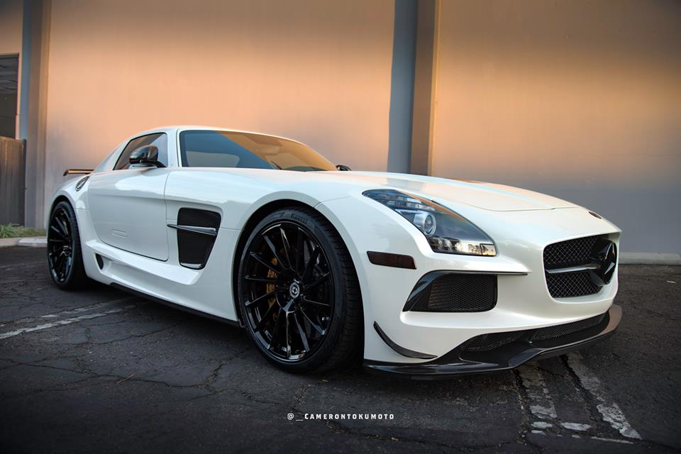 Mega Brabus Mercedes Sls Amg On Hre Rs309m Rims Tuningblog Eu