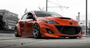 FORTUNE FLARES Widebody Mazda 3 Tuning 3 310x165 Mächtiger Style   Mazda 3 mit Widebody Kit von JGTC