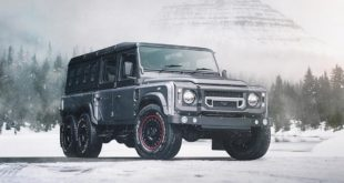 Kahn 6x6 Civilian Carrier Defender Tuning 2018 1 310x165 Land Rover Defender Final Edition in Lava Orange by Kahn