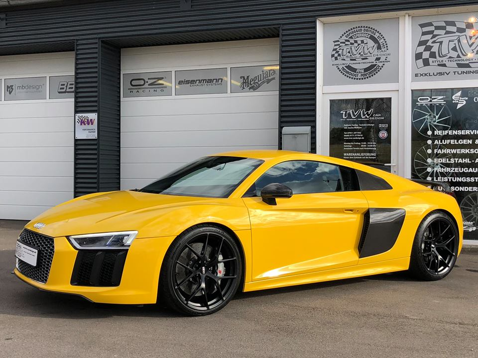 The Yellow Of The Egg Tvw Audi R8 V10 On Bbs Fi R Rims