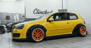 VW Golf MK5 Widebody Kit Clinched Tuning 5 310x165 Extremes Teil   VW Golf (MK5) Widebody Kit by Clinched