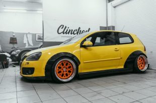 VW Golf MK5 Widebody Kit Clinched Tuning 5 310x205 Extremes Teil   VW Golf (MK5) Widebody Kit by Clinched