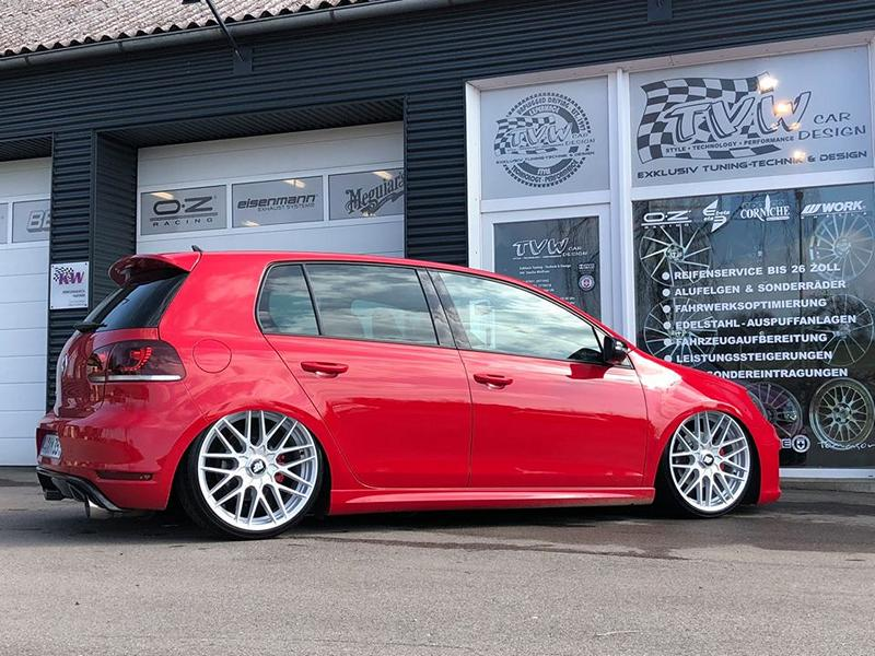 VW Golf MK6 GTI Rotiform RSE Airride Tuning 3 VW Golf MK6 GTI auf Rotiform RSE Felgen by TVW Car Design