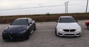 Alfa Romeo Giulia Quadrifoglio vs. BMW M3 Competition 310x165 Video: Alfa Romeo Giulia Quadrifoglio vs. BMW M3 Competition