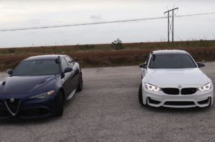 Alfa Romeo Giulia Quadrifoglio vs. BMW M3 Competition 310x205 Video: Alfa Romeo Giulia Quadrifoglio vs. BMW M3 Competition