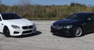 BMW M6 vs Alpina B6 xDrive Gran Coupe 310x165 Video: 2.842 HP am Rad   AMS Nissan GT R Alpha G
