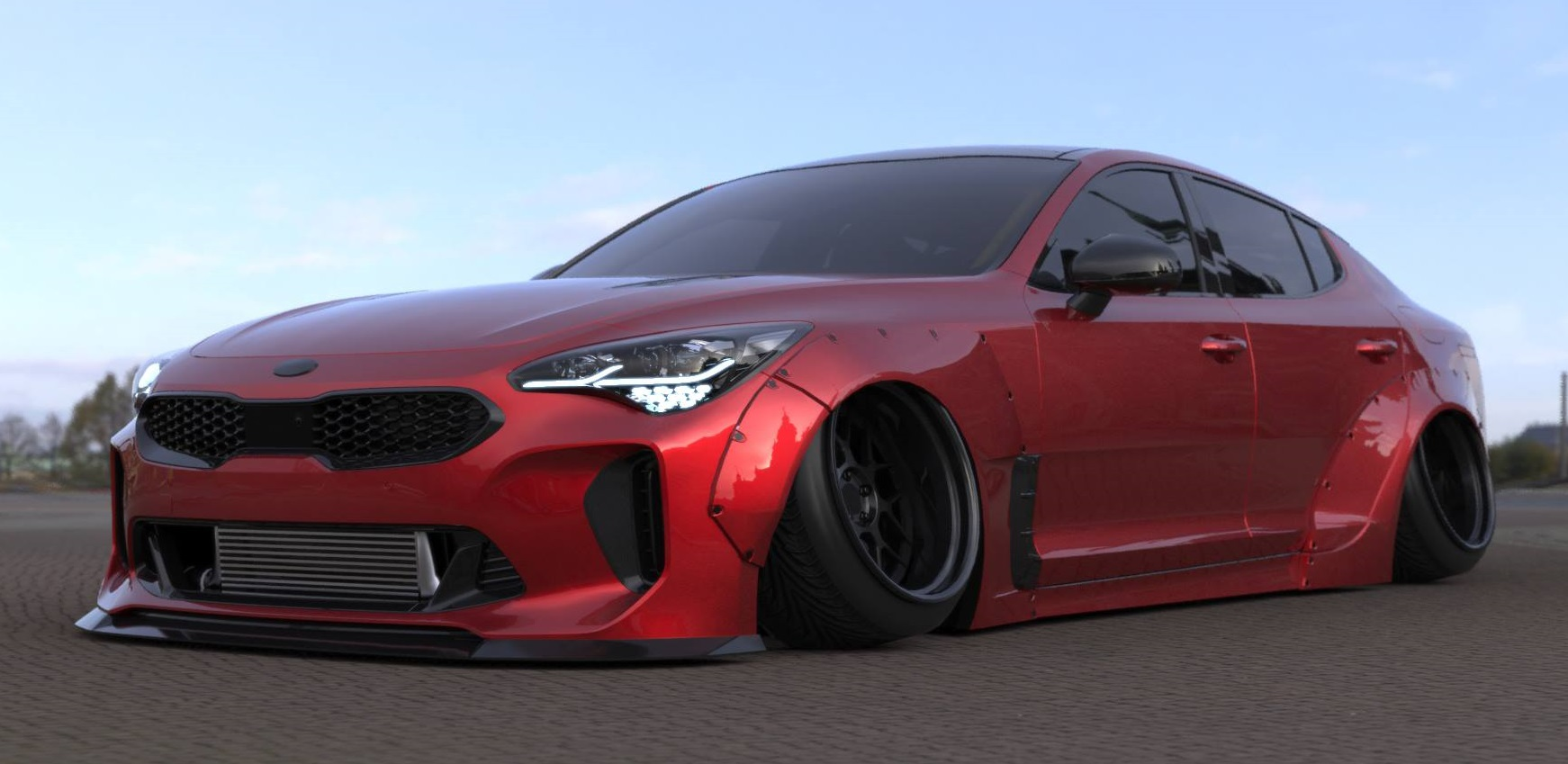 why not liberty walk performance kia stinger widebody. Black Bedroom Furniture Sets. Home Design Ideas