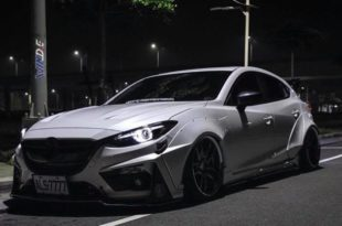 Mazda 3 Widebody Kit JGTC Airride Tuning 1 310x205 Mächtiger Style   Mazda 3 mit Widebody Kit von JGTC