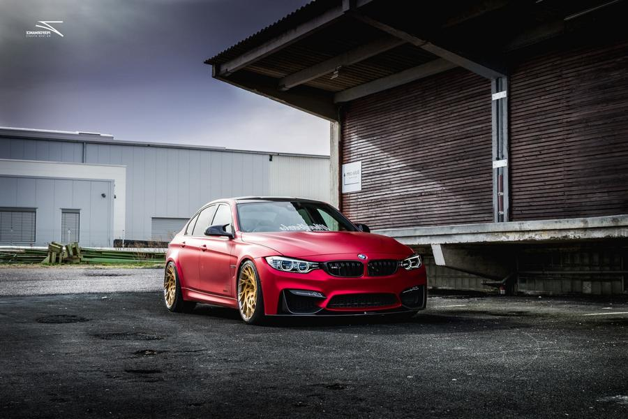 Satin Red BMW M3 F80 ZP.11 Felgen Tuning Z Performance Wheels 3 Perfekt? BMW M3 F80 in Satin Red auf Z Performance Felgen