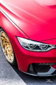 Satin Red BMW M3 F80 ZP.11 Felgen Tuning Z Performance Wheels 4 190x285 Perfekt? BMW M3 F80 in Satin Red auf Z Performance Felgen