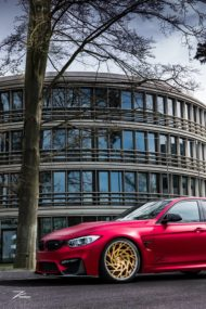 Satin Red BMW M3 F80 ZP.11 Felgen Tuning Z Performance Wheels 5 190x285 Perfekt? BMW M3 F80 in Satin Red auf Z Performance Felgen