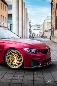 Satin Red BMW M3 F80 ZP.11 Felgen Tuning Z Performance Wheels 6 190x285 Perfekt? BMW M3 F80 in Satin Red auf Z Performance Felgen