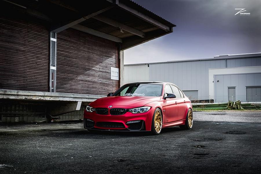 Satin Red BMW M3 F80 ZP.11 Felgen Tuning Z Performance Wheels 7 Perfekt? BMW M3 F80 in Satin Red auf Z Performance Felgen